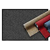 casa pura® Premium Fußmatte | Sauberlaufmatte für Eingangsbereiche | Fußabtreter mit Testnote 1,7 | Schmutzfangmatte in 8 Größen als Türvorleger innen und außen | anthrazit - grau | 90x120cm
