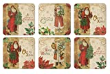 Pimpernel Victorian Christmas Coasters - Set of 6
