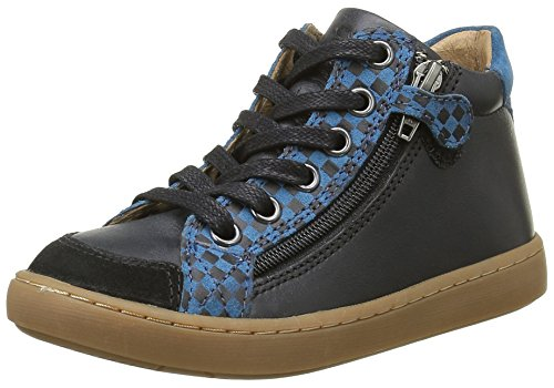SHOO POM Jungen Play Hi Bi Sneaker Schwarz - Noir (Snow/Square Black/Bleu)