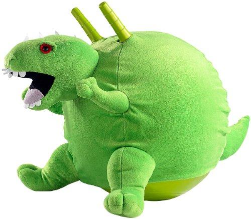 Playtastic Bälle: Knallgrüner Dinosaurier-Hüpfball mit Flauschbezug, 45 cm - Dinosaurier-kostüm Für Kleinkind