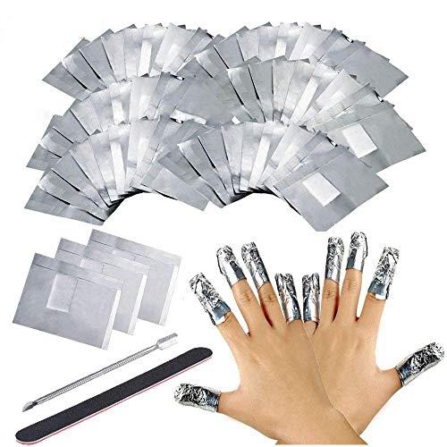Ultra-delgado 200 pcs aluminio Foil Nail Wraps Gel