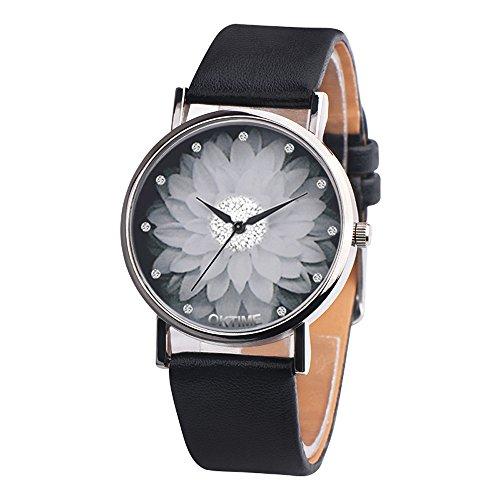 Uhren Damen Armbanduhr Frauen Lässig Dame Kunstleder Quarz-analoge Armbanduhr Exquisit Uhr Wrist Watch Uhrenarmband Freizeit Uhr Strass-Luxus Wrist Watch,ABsoar