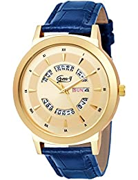 Gen-Y GY-83 Golden And Blue Day And Date Analog Watch For Boys And Men