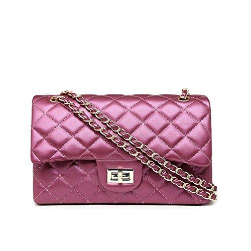 Mode Handtaschen Kette Paket Schulter Slung Umhängetasche,Blue WineRed