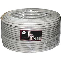 Câble réseau CAT.6 50m ; S/FTP PIMF ; CAT6 Câble d'installation CAT6 ethernet