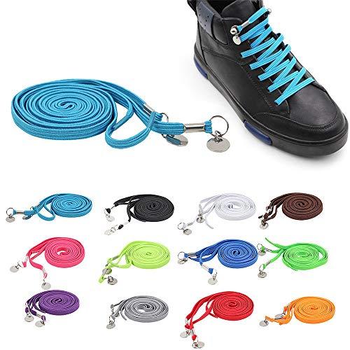 1 paio di lacci elastici per scarpe da ginnastica comode, 95 cm, perfetti per le mani, senza cravatta, colore giallo