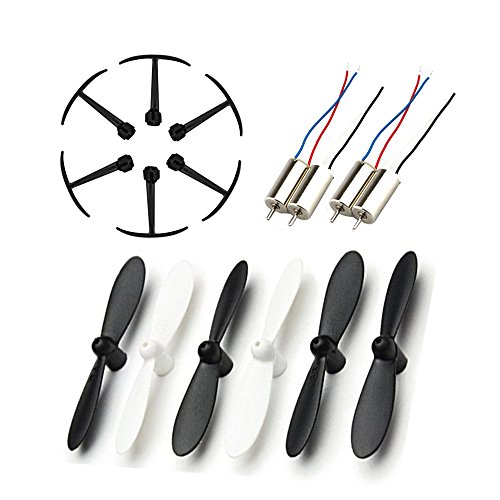 Togather® JJRC H20 RC Quadcopter Ricambi 6Pcs eliche + 6pcs telai di protezione + 4 pezzi Motori per Drone Sostituzione