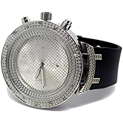 Pave Master Classy 3D Bezel HipHop Bling Silver Plated Watch