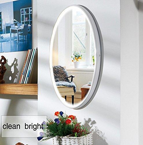LED Spiegel, NANAMI Wandspiegel mit Beleuchtung, Moderne Wandspiegel Rund,Kosmetik...