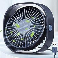 OUTERDO USB Fan,Desk Fan Portable Mini Fan - Noiseless, 3 Speeds Adjustable, Desktop/Table Fan with 1.2m USB Cable, Silent & Mini Size, Ideal For Home, Office, Outdoor Travel, USB Powered
