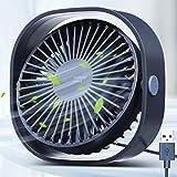USB Ventilator,3 Geschwindigkeiten Tragbar Desktop Mini Ventilator, USB, Starker Wind, Leiser...