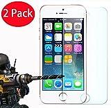 2 Pack - iPhone 5 5s Panzerglas, FoneExpert® Gehärtetem Schutzfolie Glasfolie Hartglas Panzerfolie Displayschutzfolie für iPhone 5 5s