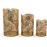Style My Way Handcrafted Metal Cutwork Pillar Candle/T-Light Holder – Set Of 3