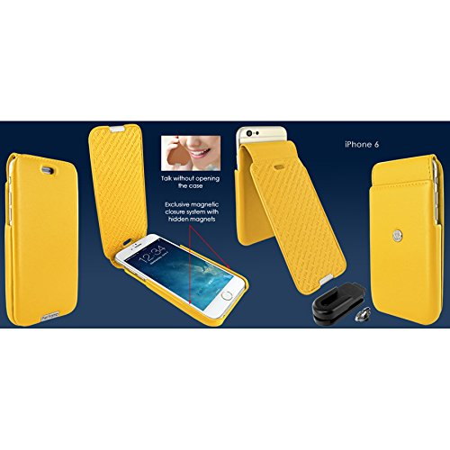 Piel Frama 685W iMagnum Etui rigide pour iPhone 6 Plus Blanc jaune