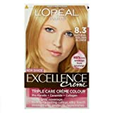 L 'Oreal Excellence Crème Permanente Haar Farbe, 8.3Nat Gold Blond