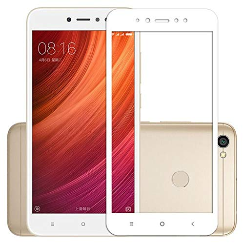 Per XIAOMI REDMI Note 5A / Note 5A Prime 5.5 / Global Pellicola TRASPARENTE vetro GLASS full touch screen TEMPERATO antiurto display 9H antigraffio (cornice Bianco)