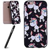 Slynmax Coque iPhone 6 Plus,Étui iPhone 6s Plus,Licorne Colorée Motif Mode Luxe...