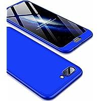 Ttimao Huawei Honor 10 Hülle PC Hardcase [Gehärtetem Glas Film] Scratch und Shockproof Ultradünne 360 Grad Full-Cover Case 3-in-1-Schutzhülle (Blau)