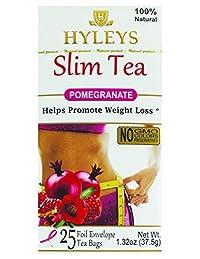 Hyleys Tea Slim Tea, Pomegranate, 25 Tea Bags (1 Pack)