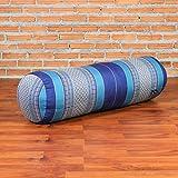 Leewadee Yoga Bolster, 75x25x25 cm, Kapok, Blue
