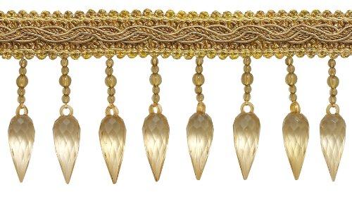 Zwei Ton Gold Barock Coll. 7,6cm Fransen Perlen Stil # b78b Farbe: Gold Medley–8633(Verkauft von der Hof)