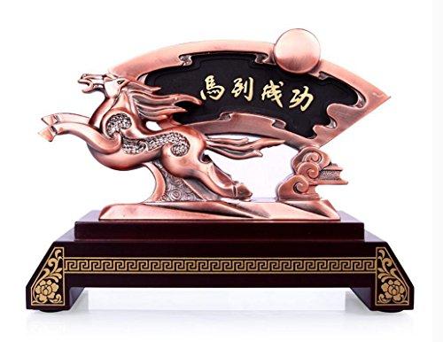 cavallo carbone attivo Artigianato Decorazione studio ufficio del desktop di festa antica rima Tatuaggi affari dono invia il capo di piombo ,