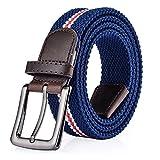 ITIEZY Cintura Elastica Intrecciata per Uomo e Donna Casuale Moda Confortevole Cintura in Tessuto Elastico Stretch