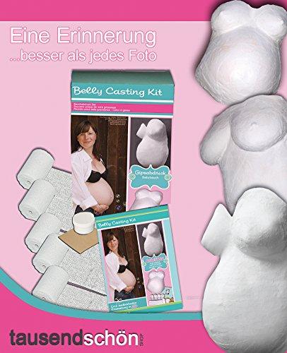 Tausendschön Gipsabdruck Babybauch, Bauchmaske Schwangerschaft -