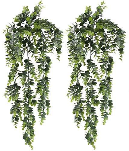 huaesin 2pcs edera rampicante artificiale piante eucalipto artificiale finta edera cadente vite edera artificiale ghirlanda di edera verde finto per appendere a parete matrimonio fioriera recinzione