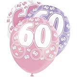 6 Ballons anniversaire 60 ans