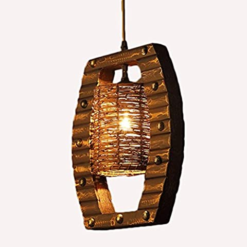 Wooden Bamboo Single Head Chandelier , Dbl-D371,dbl-d371