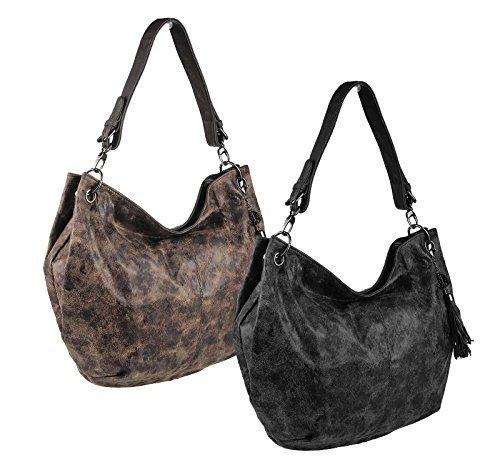 OBC ital-design Sac En Bandoulière Pour Dames Shopper sac Sac fourre-tout Sac à bandoulière City Bag Cabas Sac à main