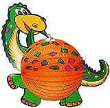 1 Stück: Papier Laterne / Lampion - Dinosaurier Dino - Papierlaterne für Kinder - Laternen Lampions - für Laternenumzug - Mädchen Jungen / Bunte Dinos