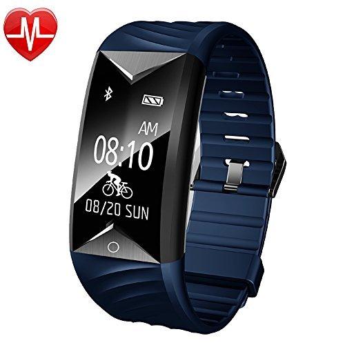 Smartwatch, Willful Fitness Tracker di Attività cardiofrequencemetre polso braccialetto collegato Cardio impermeabile Smartwatch podometre Donna Uomo per Samsung iPhone Android IOS Sport Nuoto velo