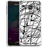 Samsung Galaxy A3 (2016) Housse Étui Protection Coque Dessin Couleur Noir