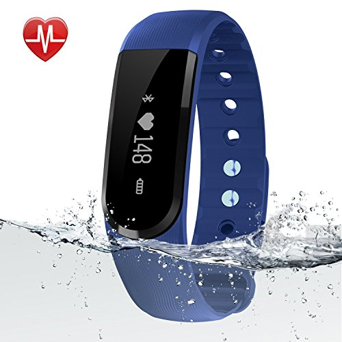 Fitness Tracker Watch, egiant Waterproof Bluetooth Heart Rate Monitor Smart Bracelets Watch Wristband Sleep Monitor Activity PedometerTrackers Compatible with iPhone ios and Android Smart Phones
