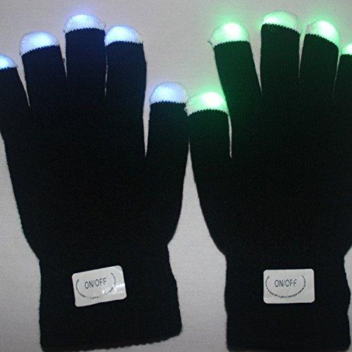 Guantes modo 6 Safeinu altereglow brilla luz LED guante