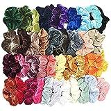 Alaso Lot de 40 chouchous en velours élastique Elastiques Chouchou Cheveux Ties...