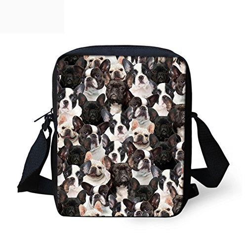 Coloranimal Umhängetasche Mehrfarbig bulldog-3 -