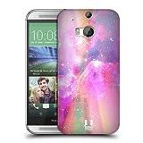 Head Case Designs Pink Und Magenta Galaxie Pastell Ruckseite Hülle für HTC One M8 / M8 Dual SIM
