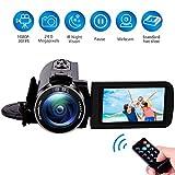 Videocamera Videocamere Full HD 1080P 30FPS per Visione Notturna Macchina Fotocamera Digitale per Youtube 24.0MP Videocamera con Telecomando