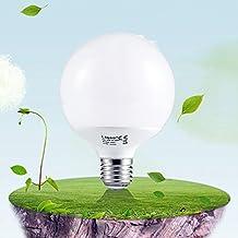 Liqoo® Bombilla LED E27 15W Blanco Neutro Natural 4000K AC 220-240V RA=80 Lámpara Bajo Consumo 1350Lm Equivalente a 90W Termoplástico Bulbo Globo LED 270 ° ángulo de haz
