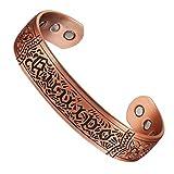 wollet Schmuck, 17,8 cm, für Herren, reines Kupfer, magnetisches Armband, Armreif, bei Arthritis, für Natürliche Schmerzlinderung bei Rheuma