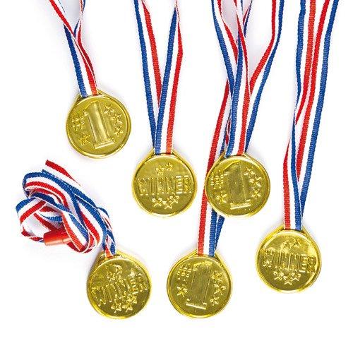 Preisvergleich Produktbild Goldmedaillen - Spielzeug für Kinder als Mitgebsel und Preis beim Kindergeburtstag - 6 Stück