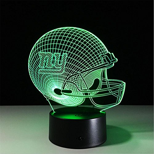 Lh&Fh Fußball New York Giants 3D Lichter Bunte Fernbedienung Touch LED Geschenk Lampe, touch