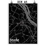 Mr. & Mrs. Panda Poster DIN A5 Stadt Stade Stadt Black -