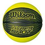 Wilson Outdoor-Basketball, Rauer Untergrund, Asphalt, Granulat, Kunststoffboden, Größe 7, ab 12 Jahre, Hyper Shot I, Schwarz/Grün