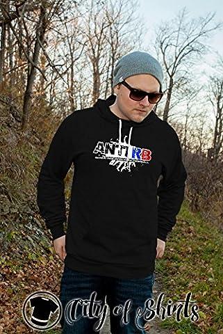 Anti RB Hooded Sweatshirt, Schwarz, L