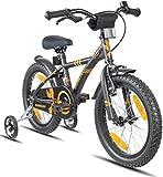 Prometheus vélo Enfant 16 Pouces pour garçons et Fille en Noir Mat et Orange à...