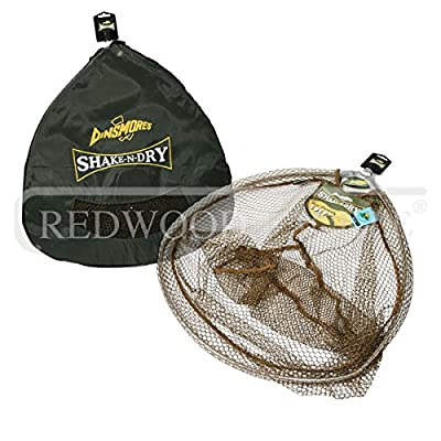 Dinsmore Shake 'N' Dry Landing Net And Stink Bag 26 inch, Angling Landing Net by Redwood Tackle